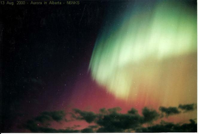 Aurora in Alberta Canada 13 Aug 2000