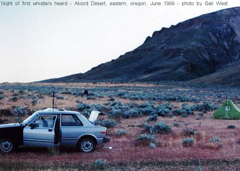 Photo of June 1989 Alvord Desert, Oregon Campsite